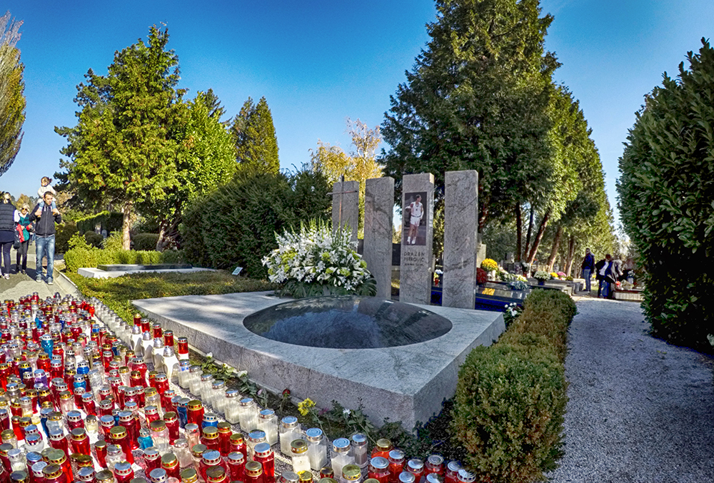 The grave of the famous Croatian basketball player Dražen Petrović