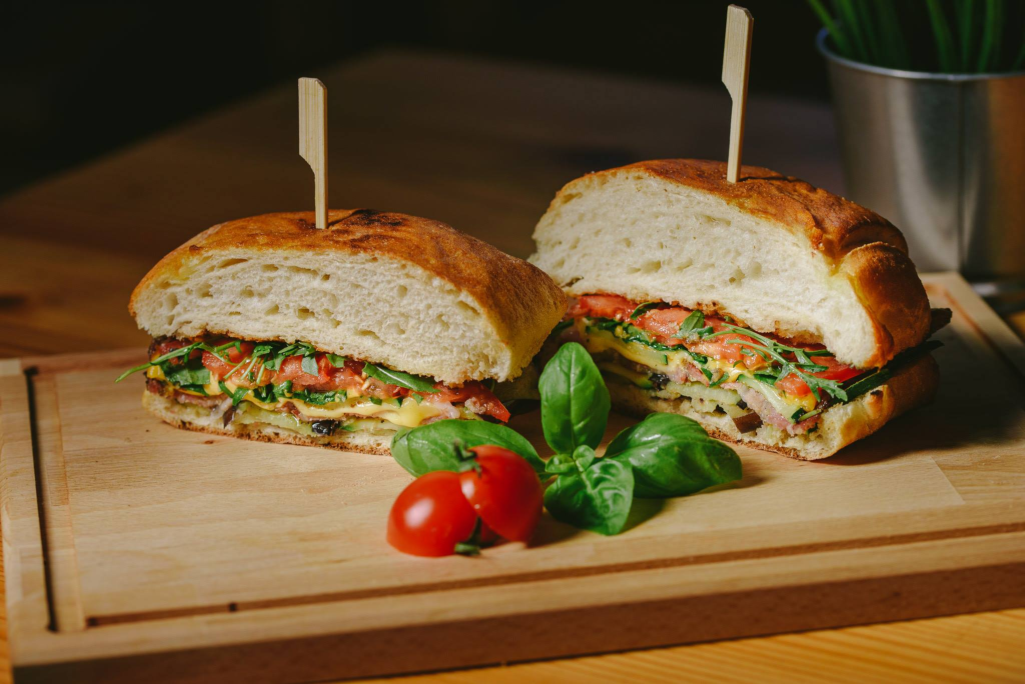 Fine fast food Piantina domaći kruh