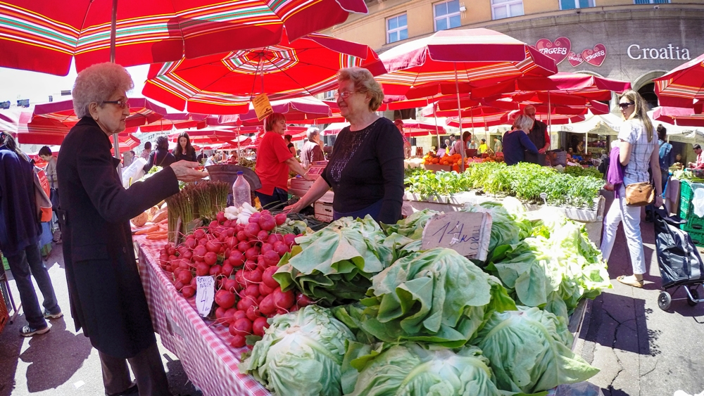 "This market is called ""Zagreb Belly"""