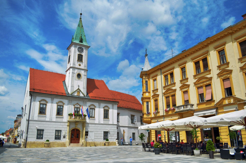 Take a walk in a center of Varazdin