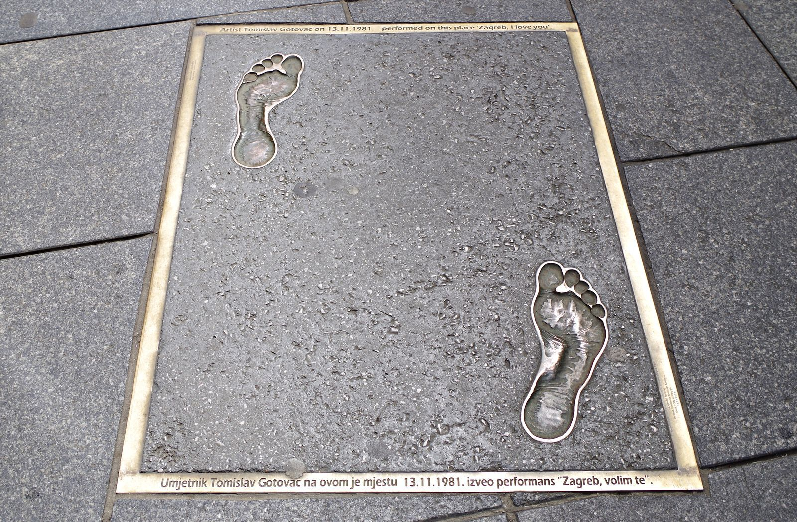 Famous Tomislav Gotovac Footprints In Ilica Citypal