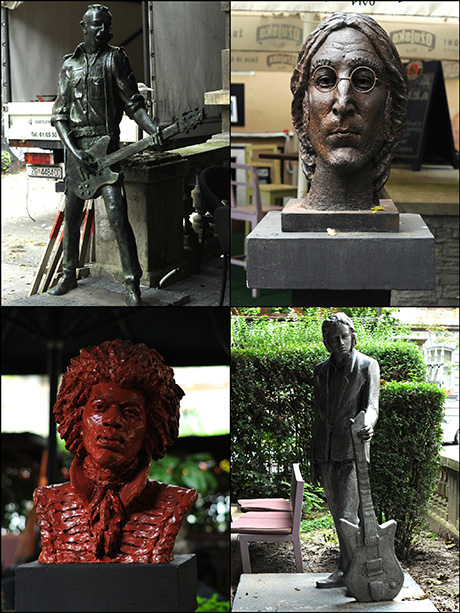Lennon, Winehouse, Hendrix and Cave together in Zagreb Rock'n'Roll theme park