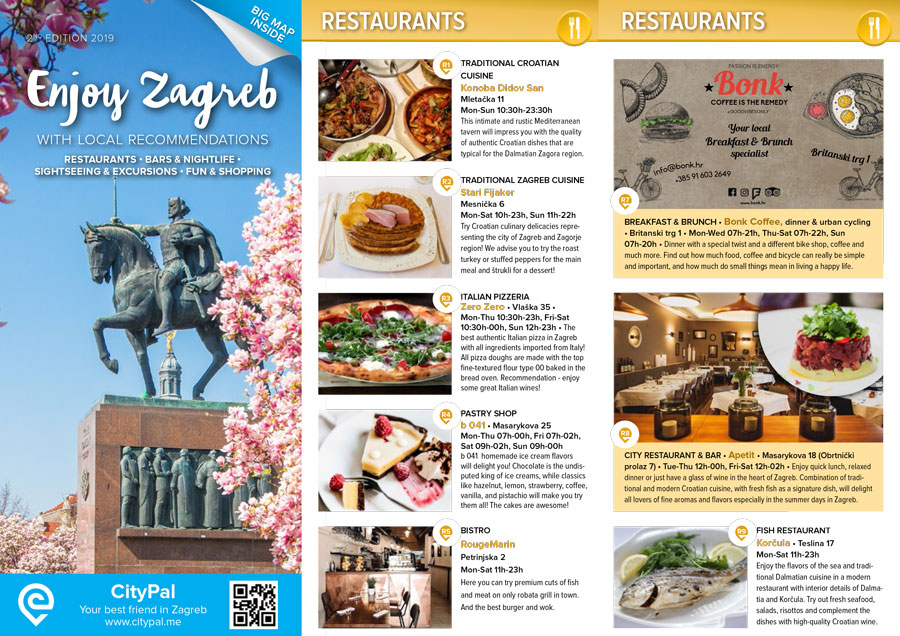 Download our city guides for Zagreb & Pula