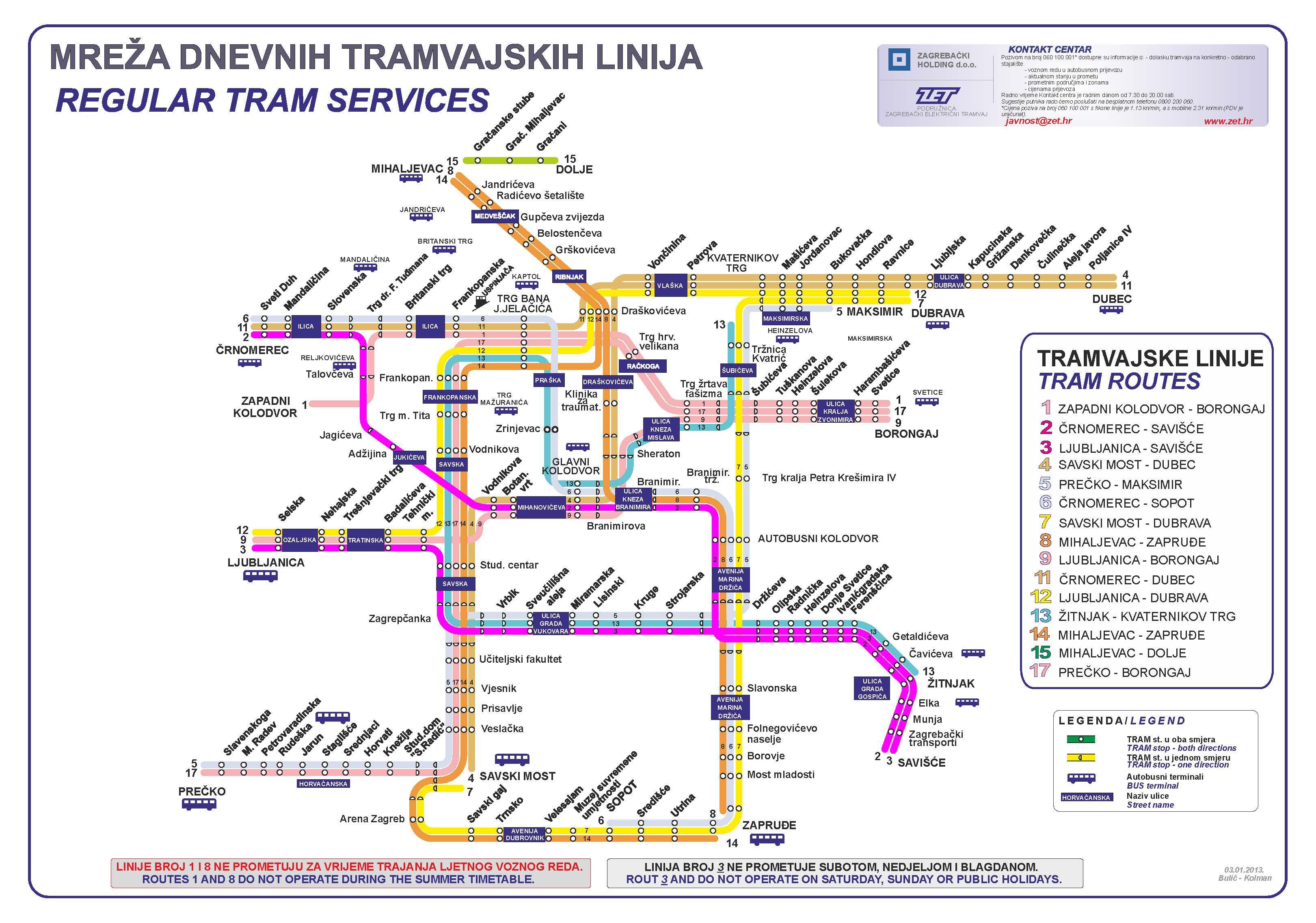 Zagreb Info Calls For Service Public Transportation Zagreb Citypal